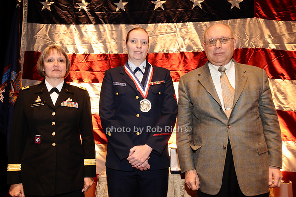 Brigader General Karlynn Peltz O'Shaughnnessy, Ann Marie Dorkowski,  Mike Berman<br /> photo by Rob Rich © 2010 robwayne1@aol.com 516-676-3939
