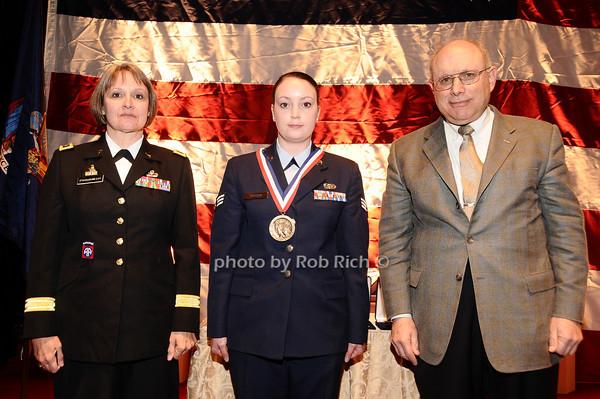 Brigader General Karlynn Peltz O'Shaughnnessy, Anna Wasson,  Mike Berman<br /> photo by Rob Rich © 2010 robwayne1@aol.com 516-676-3939