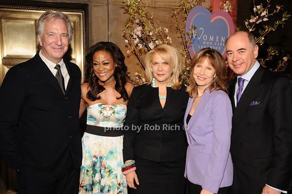 Alan Rickman, Robin Givens, Francine Lefrak, Donna Hanover, Rick Friedberg<br /> photo by Rob Rich © 2010 516-676-3939 robwayne1@aol.com