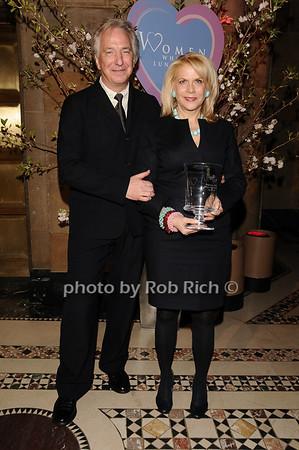 Alan Rickman, Francine Lefrak<br /> photo by Rob Rich © 2010 516-676-3939 robwayne1@aol.com