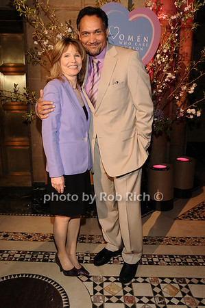 Donna Hanover, Jimmy Smits<br /> photo by Rob Rich © 2010 516-676-3939 robwayne1@aol.com