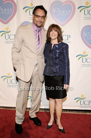 Jimmy Smits, Linda Kaplan Thaler<br /> photo by Rob Rich © 2010 516-676-3939 robwayne1@aol.com