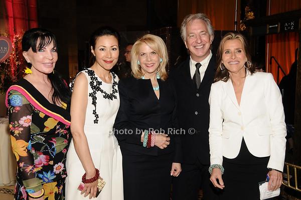 Loreen Arbus, Ann Curry, Francine Lefrak, Alan Rickman, Meredith Vieira<br /> photo by Rob Rich © 2010 516-676-3939 robwayne1@aol.com