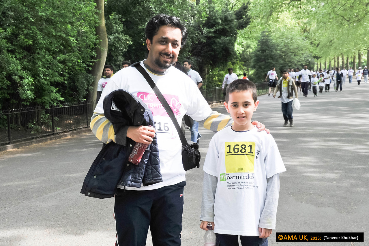 Father and son on walk!