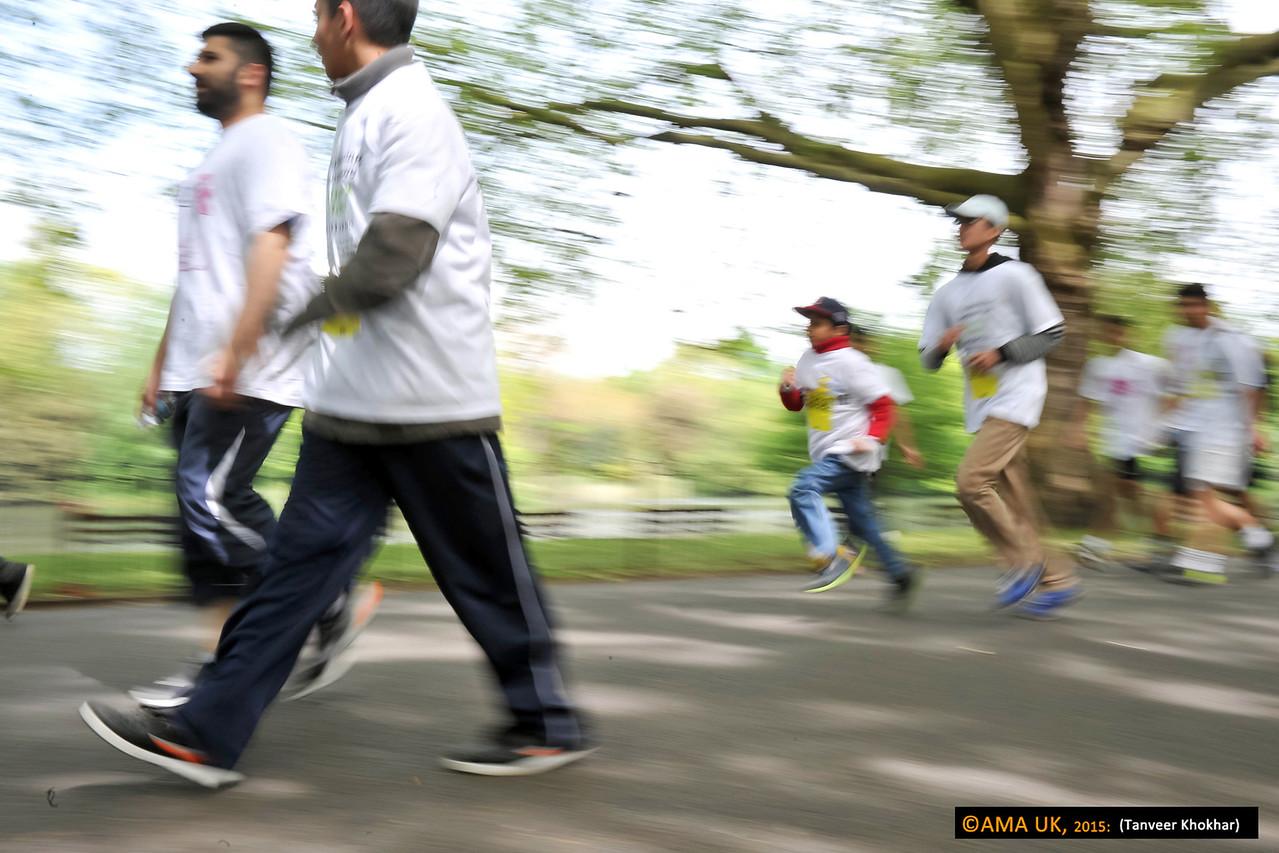 Some walked... some ran!