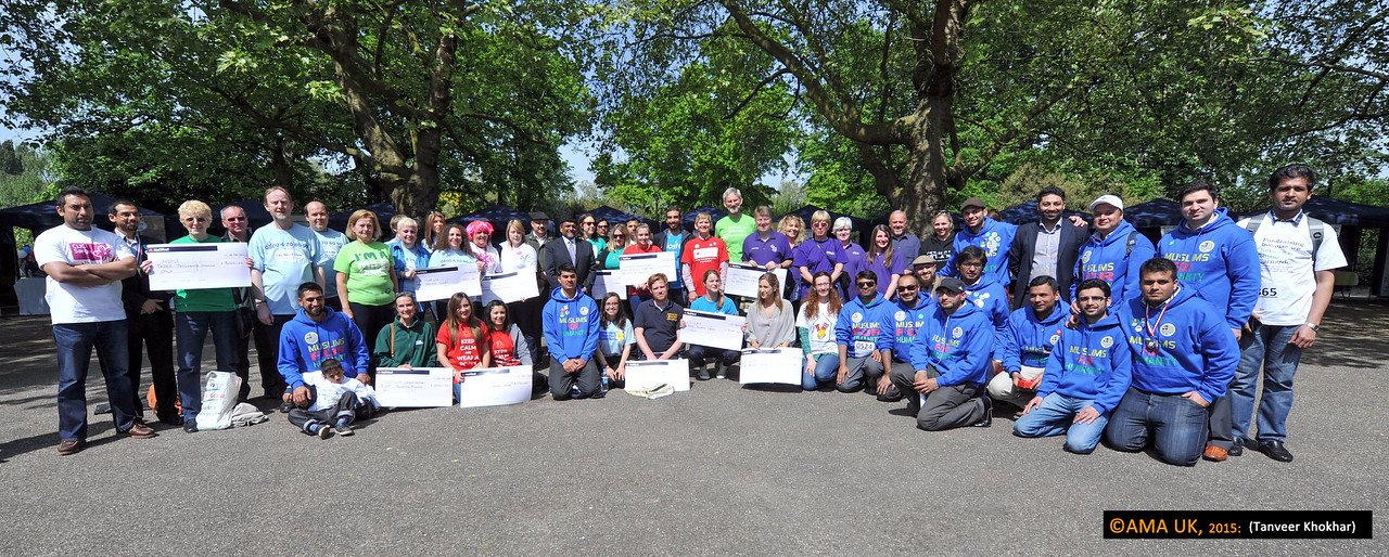 A group shot of some of the charity representatives and organisers of the walk