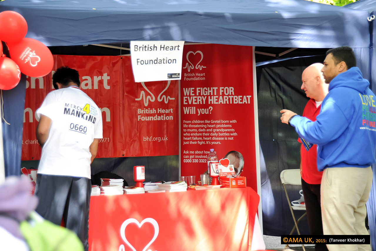 Various charities set up stalls to raise awareness of their cause.