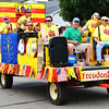 Debbie Blank | The Herald-Tribune<br /> Some of Batesville's neighbors reminded the crowd Oldenburg's Freudenfest turns 40 July 15-16.