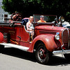 Debbie Blank | The Herald-Tribune<br /> A very old Sunman firetruck allowed bystanders to imagine what firefighting used to be like.