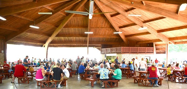 Christopher Aune | The Herald-Tribune<br /> Many area residents enjoyed Saturday night dinners in the Liberty Park Pavilion during Summerfest 2016, which was July 8-9. The fundraiser benefitted the Batesville Fire and Rescue Department.