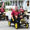 Debbie Blank | The Herald-Tribune<br /> Shriners always seem to be happy wearing their hats and driving their carts. Their appearance was a reminder of how they help burn victims.