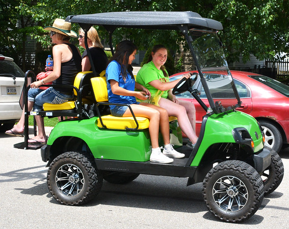 Debbie Blank | The Herald-Tribune<br /> Golf carts are legal on Batesville streets now.