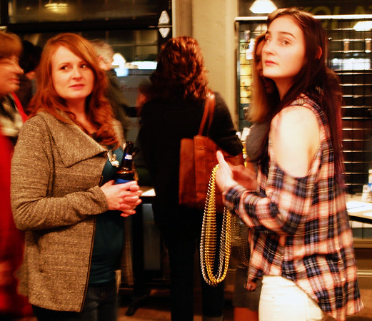 Debbie Blank | The Herald-Tribune<br /> Brookville residents Kari Duncan (left) and Bailey Russell chat before dinner at Third Place Event Center.