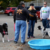 Debbie Blank | The Herald-Tribune<br /> Is it a small dog pool or a ginormous water bowl? The weather was a little brisk for a dip.