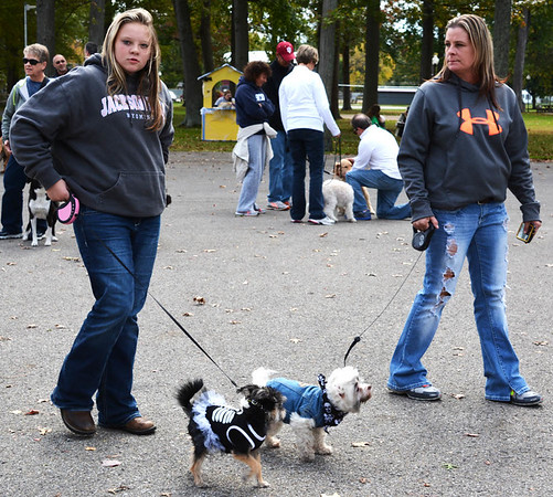 Debbie Blank | The Herald-Tribune<br /> The rule seems to be the smaller the dog, the more elaborate the costume...