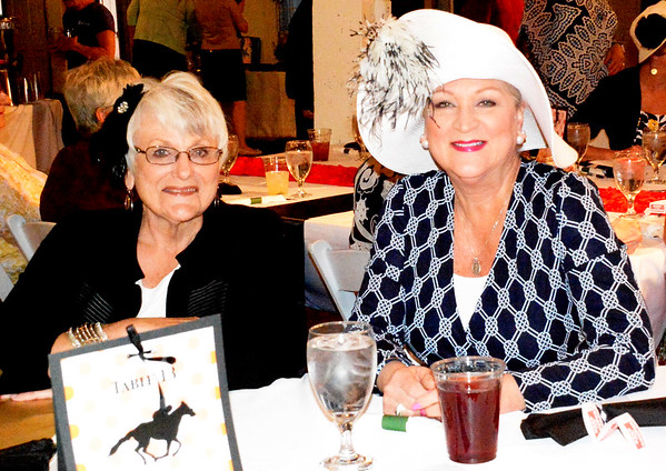 Debbie Blank | The Herald-Tribune<br /> Batesville friends Judy Laudick (left) and Libby Bohman wore coordinated outfits.