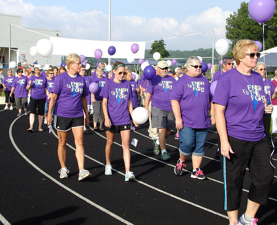 Diane Raver | The Herald-Tribune<br /> After cancer survivors of all ages walked a lap, activities to raise money for the American Cancer Society continued for the next 24 hours June 21-22.