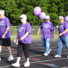 Diane Raver | The Herald-Tribune<br /> Cancer survivors were the first to walk the Batesville High School track Saturday morning. After all completed the oval, balloons were launched. Afterwards, they were treated to breakfast together.