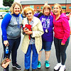 Photo courtesy of Kelly Livers<br /> Cancer survivor Diane Raver (second from right) was supported at the relay by her mother, sisters and other loved ones.
