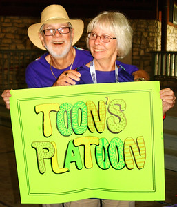 Debbie Blank | The Herald-Tribune Dan and Bev Toon, Guilford, brought many friends to the walk.