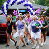 Debbie Blank | The Herald-Tribune<br /> After several claps of thunder, rain started to pelt down just as participants were leaving the park. But the walk itself was just symbolic. The hard work of collecting dollars to further the care, support and research efforts of the Alzheimer's Association was already finished.