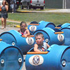Will Fehlinger | The Herald-Tribune<br /> Batesville Kiwanis sponsored these train carts, zigging and zagging children through the streets of Batesville.