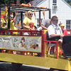 Will Fehlinger | The Herald-Tribune<br /> The Freudenfest float pumped out 'The Chicken Dance' music at Saturday's parade in Batesville. The annual fest in Oldenburg takes place July 19-20.