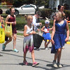 Will Fehlinger | The Herald-Tribune<br /> Dancers with Southeastern Indiana Dance, Batesville, have fun along Saturday's Summerfest parade route.