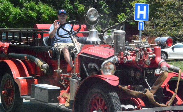 Will Fehlinger | The Heraldl-Tribune<br /> There were old as well as new fire trucks in the 2019 Batesville Fire & Rescue Summerfest parade.