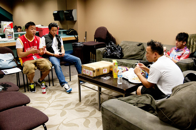 The Fung Brothers and DJ eTunes Backstage