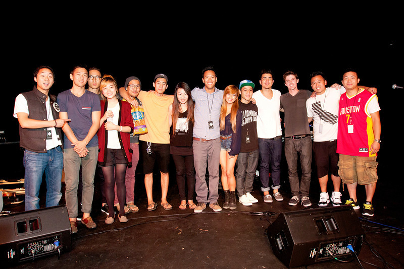Group Shot: The Fung Brothers, Monsters Calling Home, Chantelle Truong, Chris Logic, Joseph Vincent, Kenny, DJ eTunes