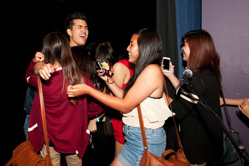 Joseph Vincent with Fans