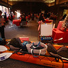 "Raffle tickets for sale at LGH, for Sun Santa baskets put together by Lowell General Hospital departments. ""Santa's Ultimate Sleigh"" basket includes a kayak. (SUN/Julia Malakie)"