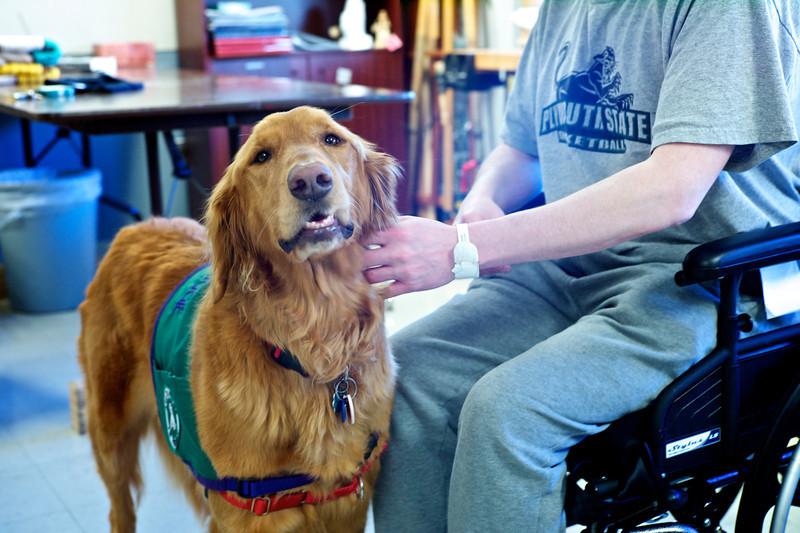 Maggie visit at VA