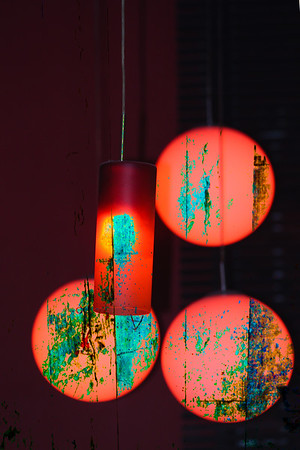 Hanging Lamps - Recently on exhibition at the Kendall Art Gallery in Miami.