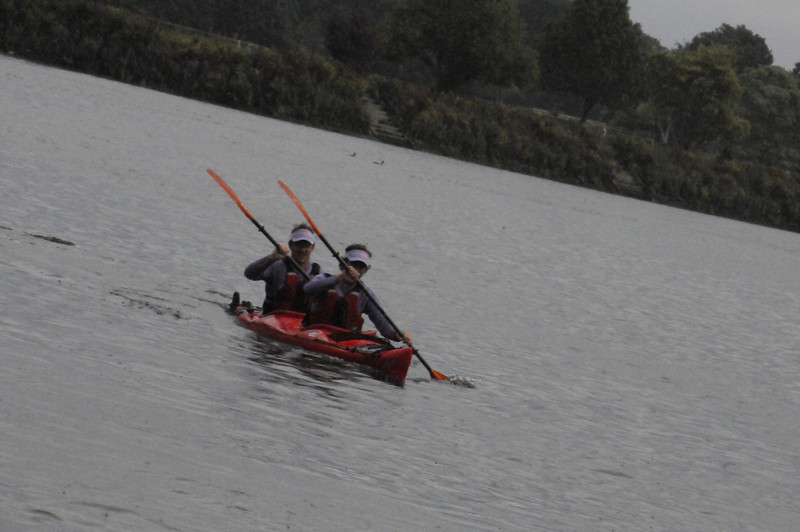 The boys training at Richmond Canoe club in a Prijon Double...