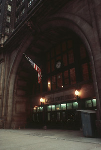 2021.009.1.002--charles stats 35mm kodachrome DUPE [Don Davis]--CRI&P--LaSalle Street station front entrance--Chicago IL--no date