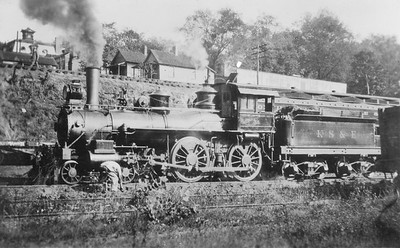 2021.009.RPPC.018--charles stats RPPC--KS&E--Knoxville Sevierville & Eastern steam locomotive 4-4-0 34--Knoxville TN--c1924 0000