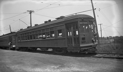 2021.009.4.026--charles stats 116 neg [Raymond Colombe]--CNS&M--streetcar 360 at carbarn--North Chicago IL--1938 0600