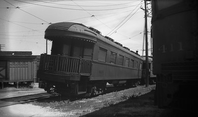 2021.009.4.029--charles stats 116 neg [Raymond Colombe]--CNS&M--obs-parlor 413 and 411 in storage at shops later converted to coaches--Highwood IL--c1938 0000