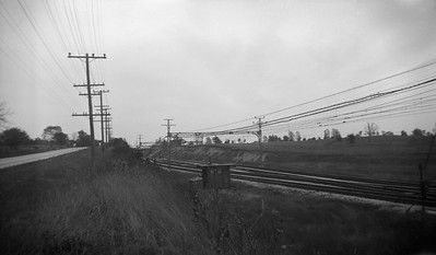 2021.009.4.006--charles stats 116 neg [Raymond Colombe]--CNS&M--view of right-of-way looking east at Green Bay Jct--Lake Bluff IL--c1938 0000