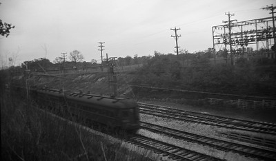 2021.009.4.001--charles stats 116 neg [Raymond Colombe]--CNS&M--southbound electric interurban passenger train action scene at Green Bay Road--Lake Bluff IL--c1938 0000