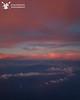 Sunset over Maui on the way to Oahu