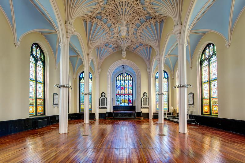 Empty Unitarian Church Charleston SC