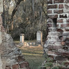 Cemetery at Old Sheldon Church Ruins in Yemassee, SC