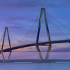 Sunset on Arthur Ravenel Jr. Bridge