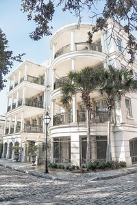 Building on waterfront, Old Charleston