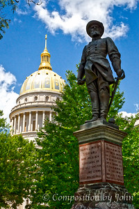 Charleston WV Capitol Building and Stonewall Jackson