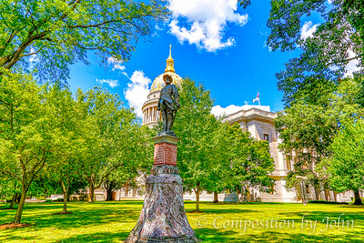 Charleston WV Capitol Building and Stonewall Jackson