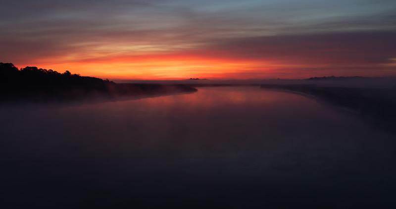 Foggy Sunrise Near Bear Island, SC